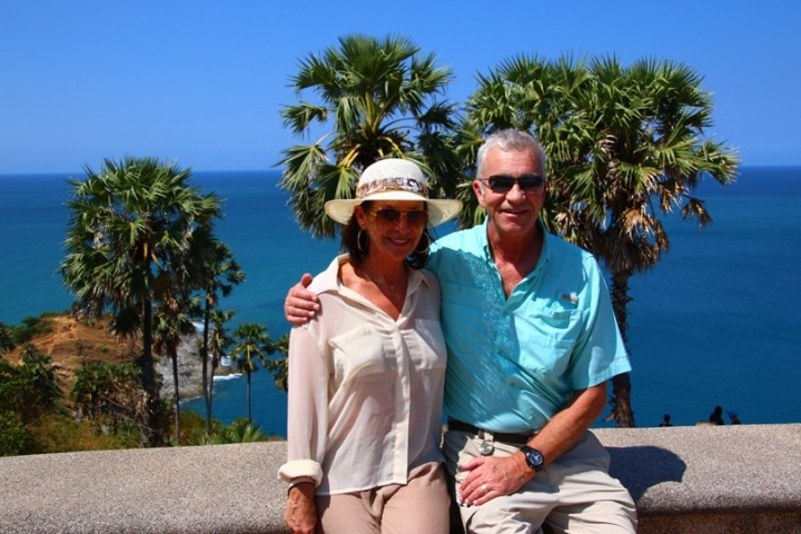 Karen and I enjoying the vista