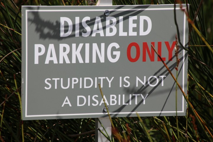 This sign in Steinberg car park