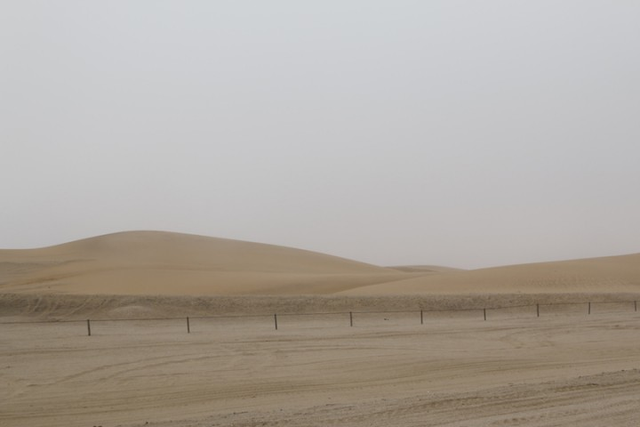 The dunes near the road