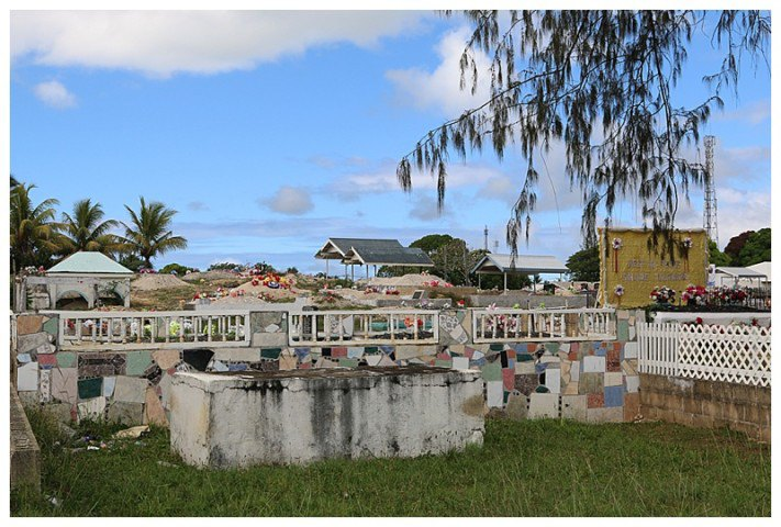 One of many colourful cemeteries
