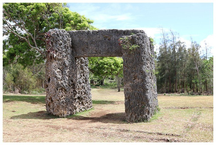 Tonga's most famous monument; an ancient stone trilithon, believed to be a calendar
