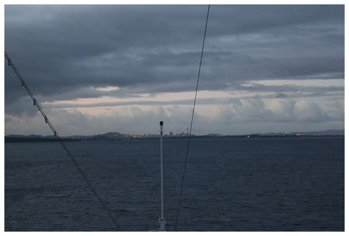 Early morning and the skyline of Auckland beckons