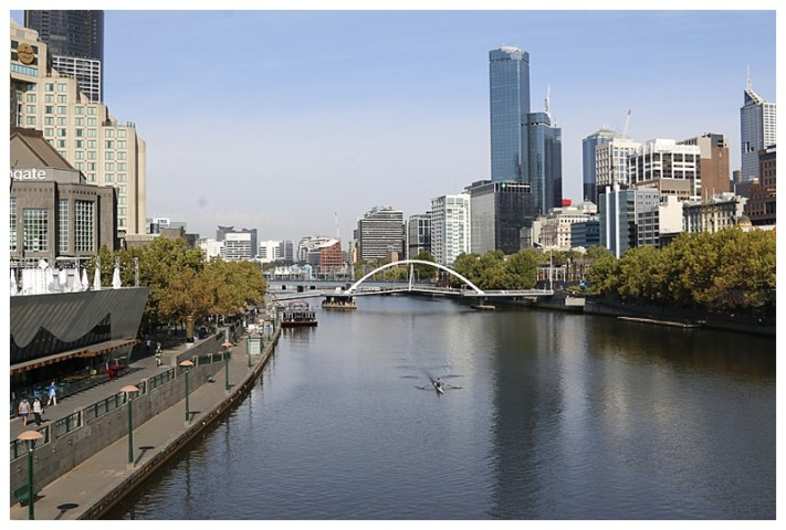The Yarra river, which runs through the heart of the city