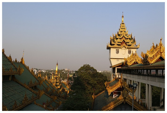 On a hill overlooking Yangon, the outer structure