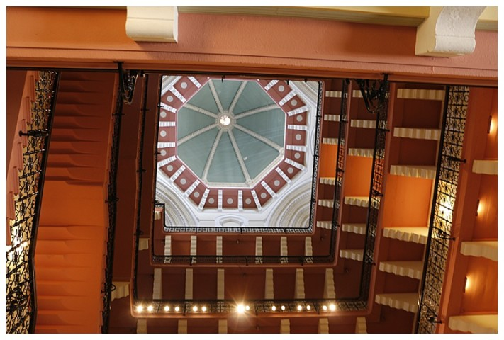 And the beautiful atrium, leading to the rooms. (You are looking up, towards the cupola)