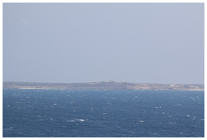 Passing the island with its radars