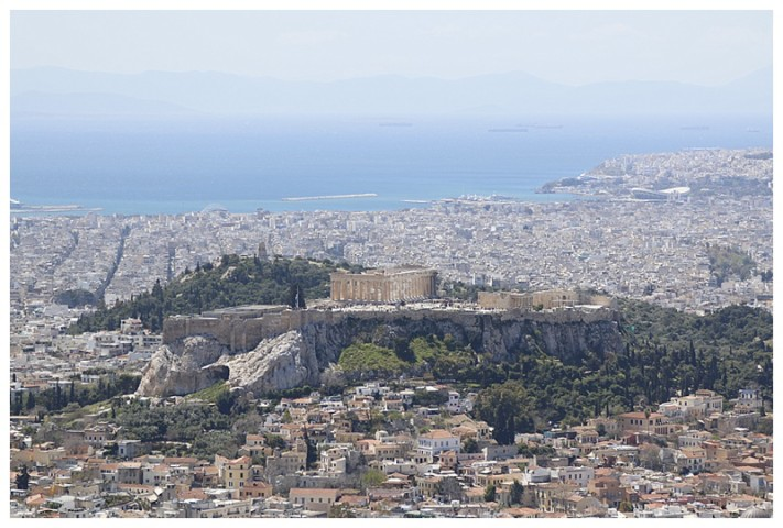 A magnificent photo of the Acropolis from afar