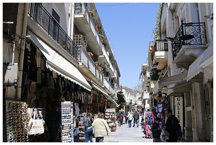 The Plaka shopping district