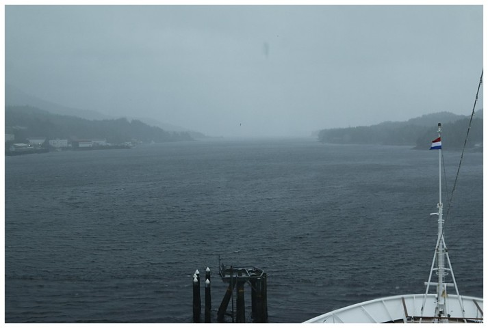 South section of Tongass Narrows in the rain
