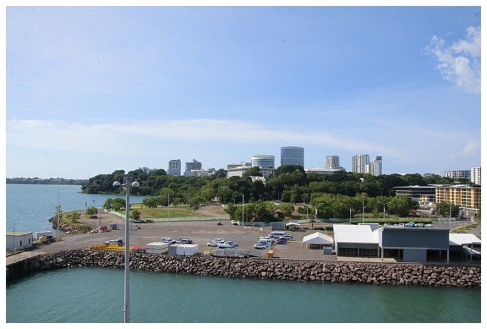City of Darwin, the white building, centre is the Government building.