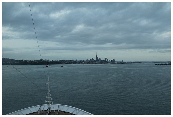 Early morning and Auckland's skyline beckons