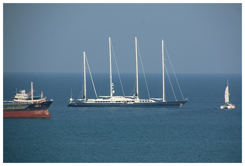 ...including this beautiful private yacht