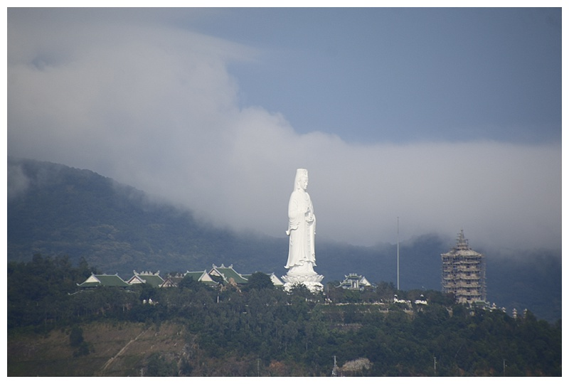 A massive Buddha overlooks China Beach.