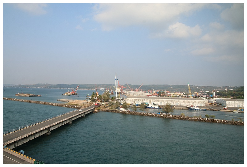 The main port, from our Bridge