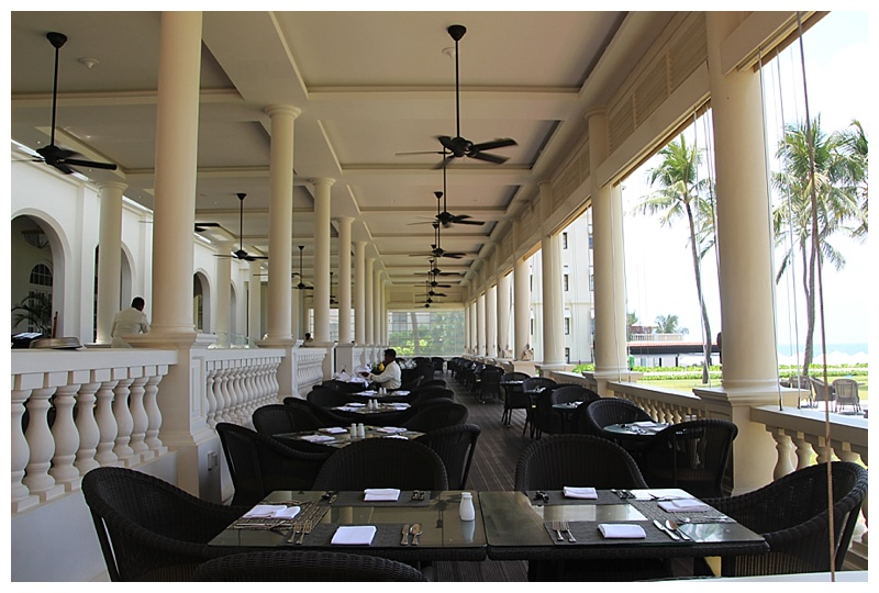 Restaurant on the verandah