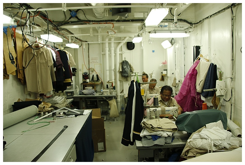 Our tailors, busy