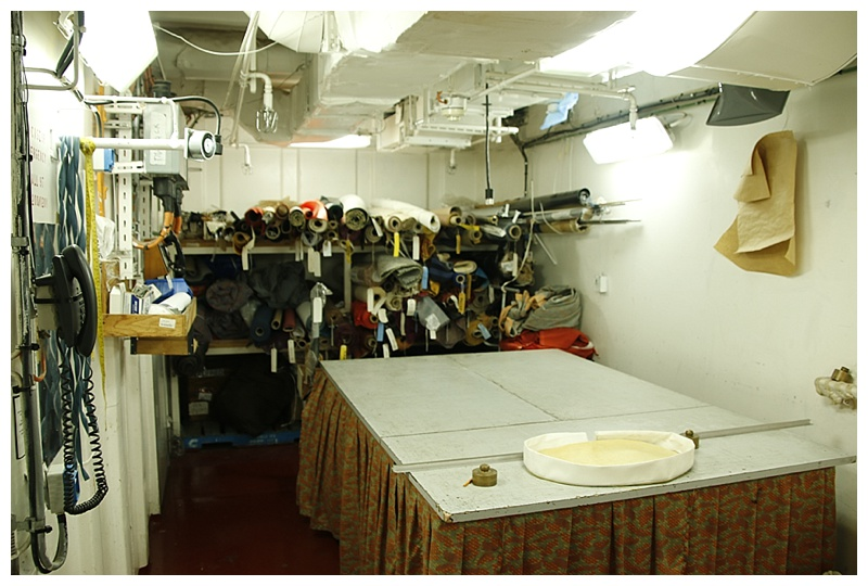 The upholstery room