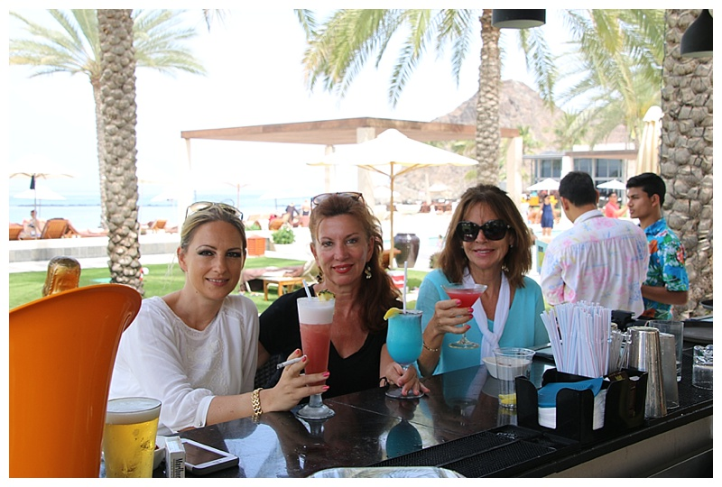 ..and the ladies enjoy a cocktail
