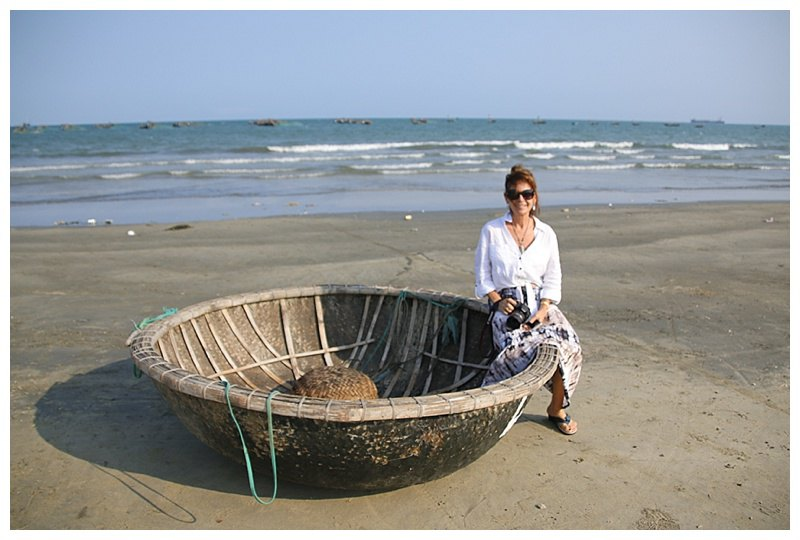 K1 sitting on a coracle
