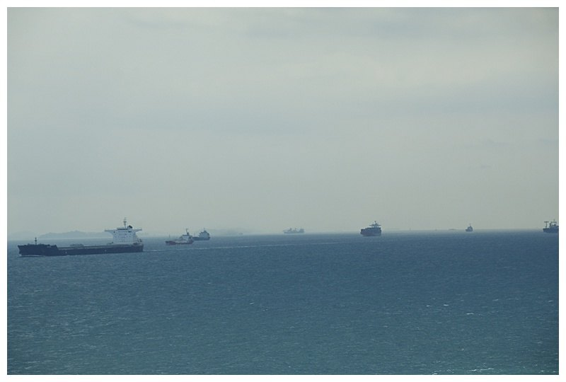 Because there other eastbound ships in the (close) other lane