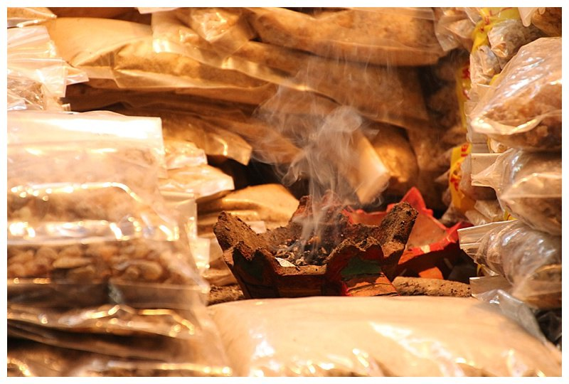 Frankincense burned everywhere, permeating the souk
