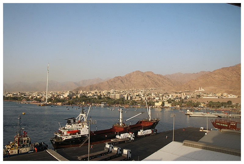 Looking over the city of Aqaba.
