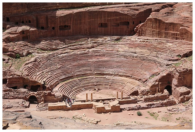 The theatre, carved out of rock