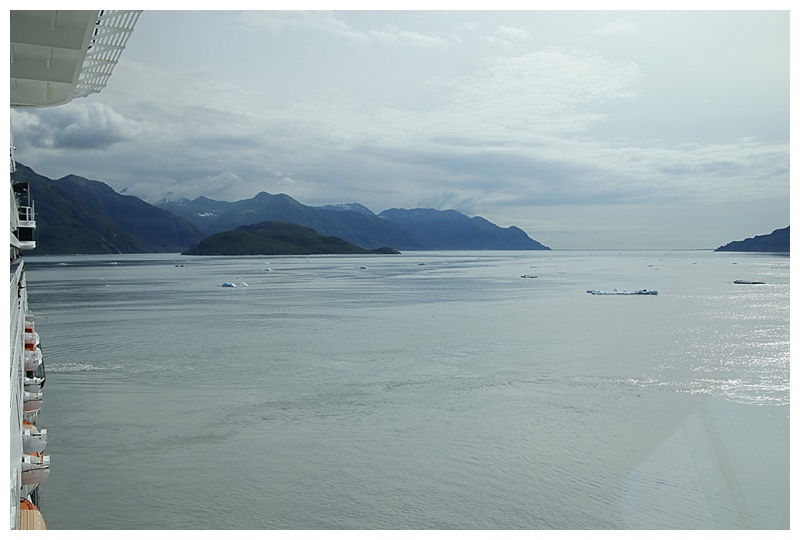 Looking south, back down Disenchantment Bay